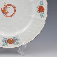 Chelsea Porcelain Kakiemon Damask'd Plate Coiled Phoenix c.1754 (3 of 7)