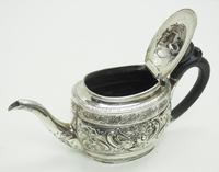 Antique Solid Silver Tea Pot Early Victorian Silver c.1849 (3 of 7)