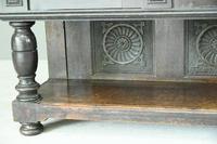 Antique Large Dark Oak Cupboard (5 of 13)