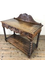 Victorian Gothic Oak Side Table with Green Man Details (16 of 17)