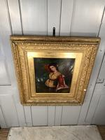 Antique Re-Raphaelite oil painting portrait of aristocratic young girl (1 of 2) (8 of 10)