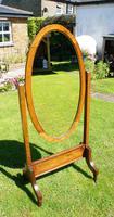 1930's Art Deco Oak  Cheval Mirror (14 of 18)
