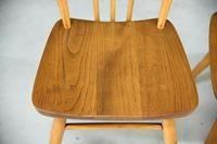 Pair of Vintage Ercol Stick Back Kitchen Chairs (5 of 8)