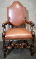 Large Pair of Oak & Leather Armchairs (5 of 11)