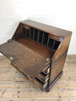 Early 20th Century Antique Oak Geometric Bureau (M-1657) (13 of 17)