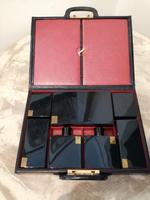 Gents Art Deco Leather Suitcase & Dressing Case