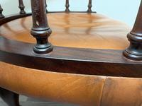 Charming Traditional Victorian Style Tan Brown Office Captains Bankers Chair (35 of 42)