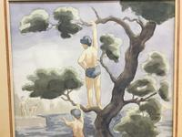 "Watercolour ""Bathers"", by Joseph Smedley (2 of 6)"