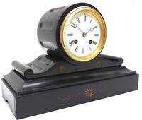 Drum Head Slate Mantel Clock – Gilt Marble 8-day Striking Mantle Clock (11 of 11)