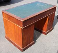 1920s Solid Mahogany Pedestal Desk with Green Top (4 of 4)