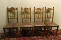 Set of 4 oak Arts & Crafts dining chairs (2 of 5)