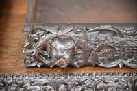 Antique Anglo Indian Carved Padouk Library Table (19 of 34)