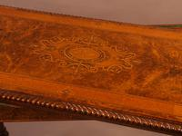 Super Quality Victorian Burr Walnut & Marquetry Card Table (7 of 12)