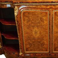 Victorian Inlaid Walnut Side Cabinet (17 of 17)
