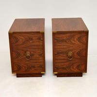 Pair of Military Campaign Style Rosewood Side Chests (7 of 10)