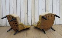 Pair of French Boudior Tub Armchairs for re-upholstery (7 of 8)