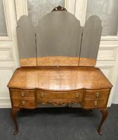 Quality Burr Walnut Dressing Table