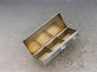 Early 20th Century Silver Triple Compartment Stamp Case by Cohen & Charles, London, 1913 (8 of 10)