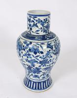 Mid 19th Century Chinese Blue & White Pottery Vase (2 of 9)