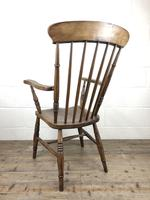 Antique 19th Century Beech & Elm Windsor Armchair (7 of 13)