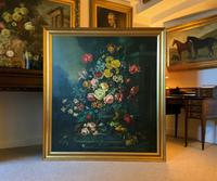 Dutch 18thc Manner RARE Huge Pair Vintage Fruit Floral Still Life Oil Paintings (23 of 23)