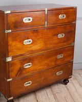 Early 19th Century Mahogany Campaign Chest (2 of 4)