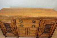Antique Late 19th Century Oak Sideboard Dresser Base. (5 of 14)