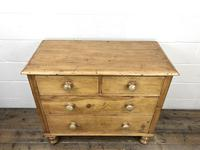 Antique Pine Straight Front Chest of Drawers (2 of 10)