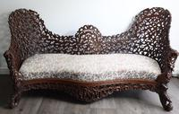 Burmese Interictally Carved Settee
