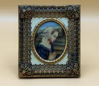 Fabulous early 1900s Italian Miniature Oil Portrait Painting - Stunning Frame!' (8 of 11)
