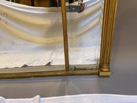19th Century Large Gilt Overmantle Mirror (4 of 16)