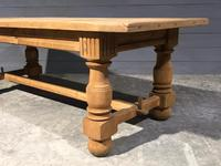 Large Refectory Bleached Oak Farmhouse Table (2 of 17)