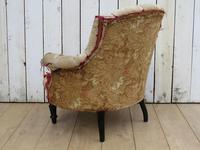 Antique French Button Back Chair For Re-upholstery (3 of 8)