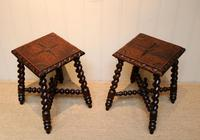 Pair Of Carved Oak Tables (9 of 9)