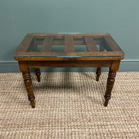 Victorian Oak Antique Coffee Table / Luggage Stand