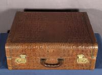 Faux Horn-back Alligator Vintage Aviation Suitcase
