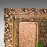 Antique Bevelled Mirror, English, Gilt Gesso, Overmantel, Hall, Victorian, 1900 (5 of 10)