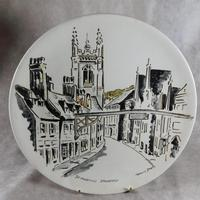 "Three Large  ""Views of Stamford"" Plates painted by Arthur Dilkes (6 of 8)"