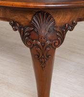 Stunning Walnut Queen Anne Style Dining Table c.1930 (4 of 10)