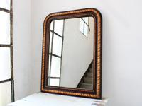 19th Century Louis Philippe Faux Grained Mirror