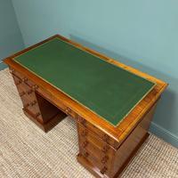 Large Victorian Mahogany Antique Pedestal Desk (6 of 7)