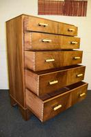 Lovely Walnut Art Deco Chest of Drawers (8 of 11)