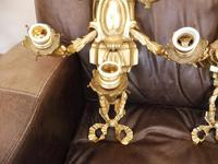 Pair of 5 branch wall lights height 3ft 3 inch brass (free shipping to mainland england) (4 of 11)