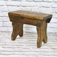 Antique Pine Bench Stool (2 of 5)