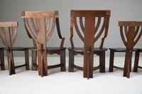 6 Arts & Crafts Carved Oak Chairs (12 of 12)