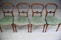Set of 4 Antique Victorian Walnut Dining Chairs (4 of 12)
