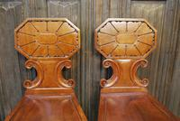 Pair of Fine Quality Regency Hall Chairs (2 of 7)