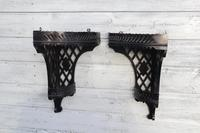 Aesthetic Movement, pierce-work corner shelves with galleries (a pair) c.1880 (21 of 35)