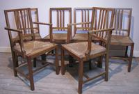 Set of 6 Heals Oak Dining Chairs c.1930