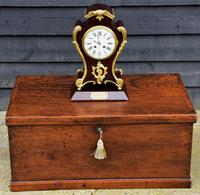 Late 19th Century Mahogany & Ormolu French Mantel Clock (5 of 7)